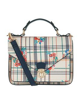 accessorize-preppy-check-floral-satchel-bag