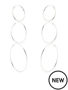 accessorize-pack-of-3-sterling-silver-hoop-earringsnbsp