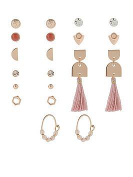 accessorize-20x-mocha-stud-set-earrings-pink