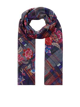 accessorize-blair-harvard-floral-check-scarf
