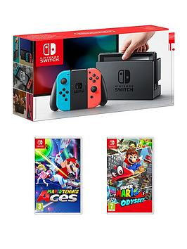 nintendo-switch-console-with-super-mario-odyssey-and-mario-tennis-aces