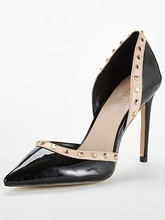 bc57bf396996 Carvela Kosmic Two Part Fierce Stud Court Shoe - Black