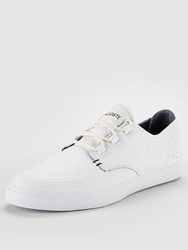 1c45b9fc416e Lacoste Esparre Deck Trainers - White