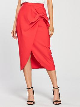 river-island-river-island-twist-front-pencil-skirt-coral