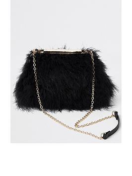 river-island-river-island-fluffy-chain-handle-bag-black