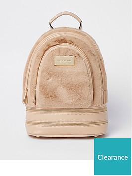 river-island-river-island-mini-faux-fur-backpack-beige