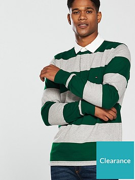 0d08075e Tommy Hilfiger Iconic Block Stripe Rugby Top - Green/Grey ...