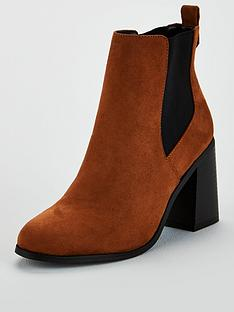 v-by-very-farrah-high-flare-heel-chelsea-boot-tan