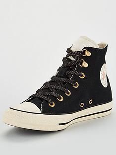 b127630b057a Converse Chuck Taylor All Star Hi - Black Cream