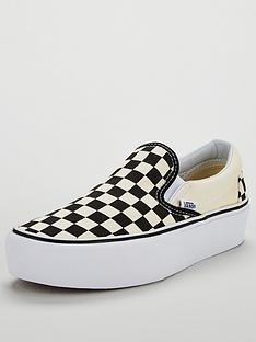 vans-classic-checkerboard-slip-on-platform-monochrome