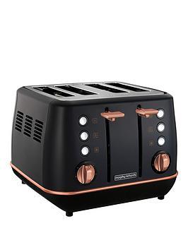 morphy-richards-evoke-4-slice-toaster-black-rose-gold