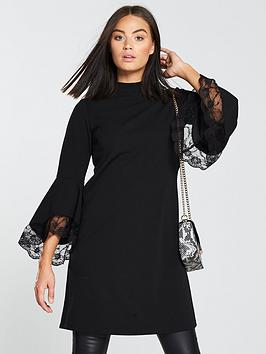 v-by-very-bell-sleeve-lace-dress-black