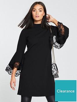 v-by-very-bell-sleeve-lace-dress-black