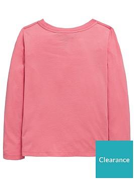 62f580671 Ralph Lauren Girls Long Sleeve Polo Applique T-shirt - Pink ...