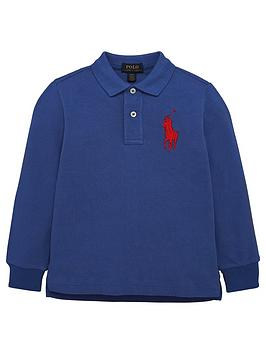 ralph-lauren-boys-big-pony-long-sleeve-polo-shirt-blue