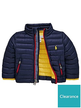 2049d09c5 Ralph Lauren Baby Boys Light Padded Jacket - Navy ...