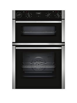 neff-u1ace5hn0bnbsp60cm-built-in-double-oven-with-circothermreg-stainless-steelnbsp