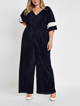 Jumpsuit Navy Plus Plisse Plus Ri Colourblock RI Cheap Sale Pay With Paypal Free Shipping Sneakernews Best Sale Sale Online yxA1Ee
