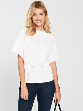 v-by-very-drawstring-waist-top-white
