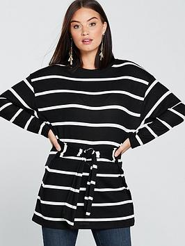 v-by-very-knot-front-longline-top-blackwhitenbsp