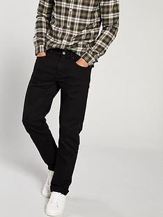 river-island-black-straight-jeans