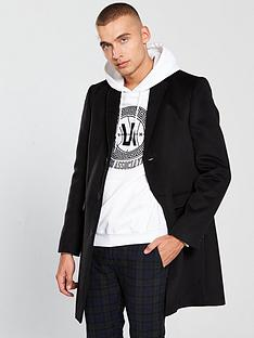 river-island-black-button-up-overcoat
