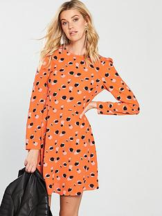 v-by-very-abstract-spot-tunic-dress-orange