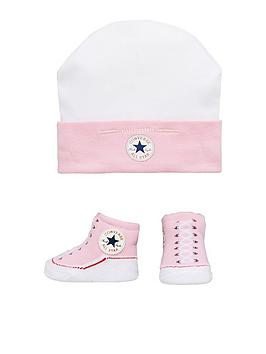 Converse Converse Baby Hat   Bootie Set  f11169bac27f