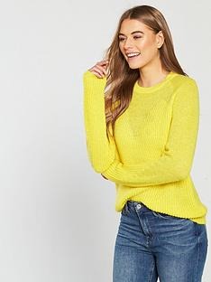 v-by-very-metallic-v-neck-shape-jumper-yellow