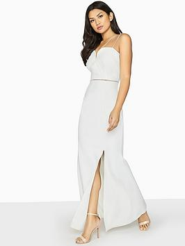 Cheap Get Authentic Outlet Low Shipping Maxi White Strap Double Dress Film Girls  on Online Cheap Price 9Zc3P