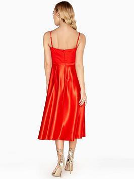 Little Orange Dress Bust Burnt Detail Midi Mistress  Strappy Clearance Wiki Sale Visit Clearance Big Sale Classic For Sale wesPN
