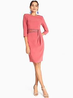 little-mistress-sienna-waist-detail-bodycon-dress-blush