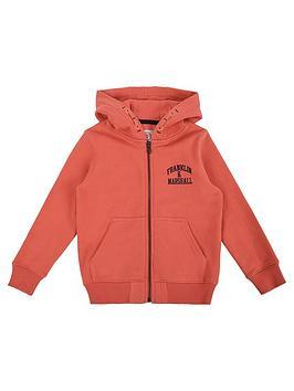 d1137e4917aa Franklin   Marshall Boys Zip Through Logo Hoody