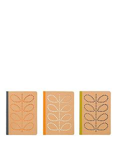 orla-kiely-a6-kraft-mini-notebooks-set-of-3-linear-stem