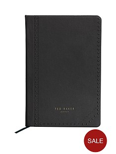 ted-baker-a5-notebook-black-brogue-monkian
