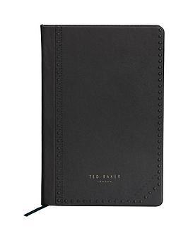 ted-baker-a5-notebook-black-brogue-monkian