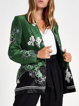 Green Floral  RI Blazer Petite Print Cheap Nicekicks Low Shipping Fee Cheap Online Free Shipping Discounts Inexpensive Sale Online Sale 5ypi9WNNCg