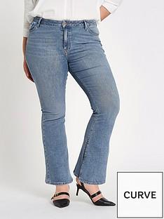 ri-plus-marnie-flare-split-denim-jeans-blue