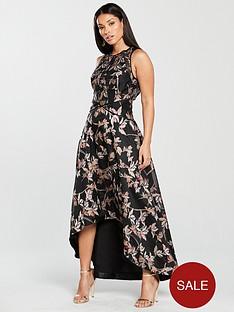 coast-kath-clipped-jacquard-maxi-dress-multi