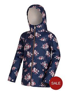 regatta-girls-berezie-jacket-navyfloral