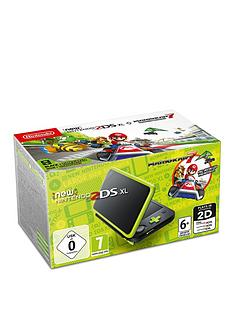 nintendo-2ds-xl-console-black-and-lime-green-with-mario-kart-7