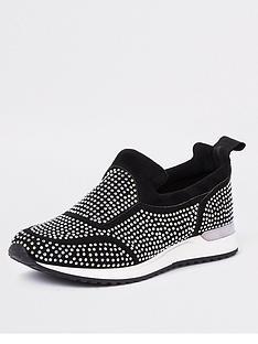 river-island-river-island-heatseal-lace-up-shoes-black
