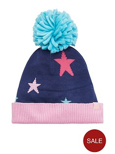 joules-girls-star-knitted-hat-navy