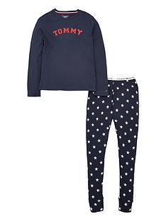 tommy-hilfiger-girls-long-sleeve-star-pyjama-set