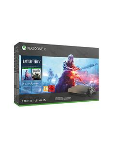 xbox-one-x-gold-rush-special-edition-battlefield-v-bundle-with-optional-extra-controller
