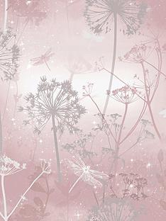 arthouse-damselfly-blush-wallpaper