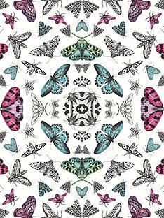 arthouse-glitter-bug-silver-wallpaper
