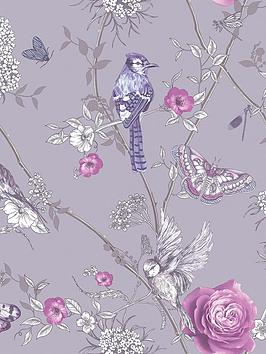 arthouse-paradise-garden-lilac-wallpaper