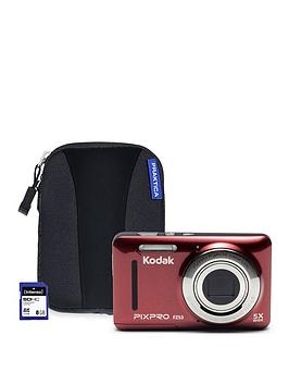 kodak-pixpro-fz53-red-cameranbspwithnbsp8gbnbspsd-card-and-protective-case