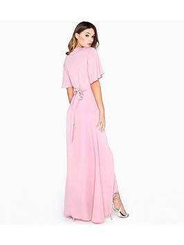 Dusty Film  Girls Wrap on Maxi Dress Pink Clearance New Styles 2BojHWPdQ